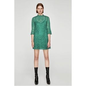 Zara Green Lace Dress